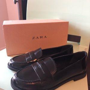 Girls Leather Zara Loafers